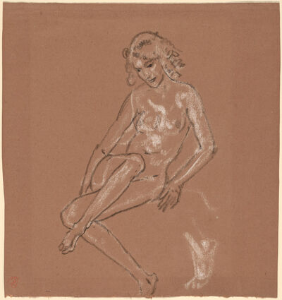 Arthur Bowen Davies, 'Seated Nude and a Foot', probably 1920