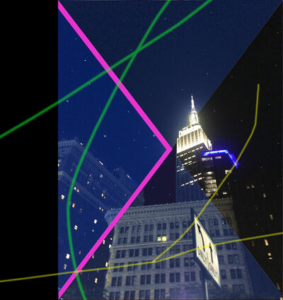 Carlos Rodal, 'Nocturne of Flatrion and Empire State', 2019