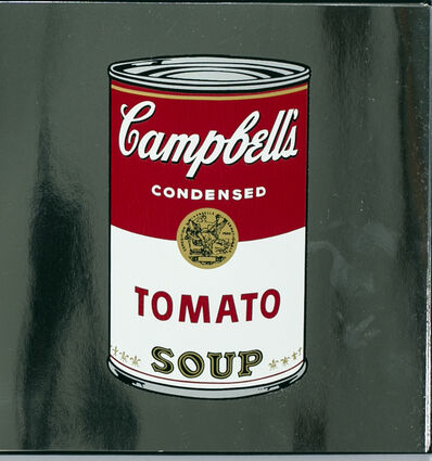 Andy Warhol, 'Andy Warhol Campbell's Tomato Soup Can on Silver Metallic Paper', 1988