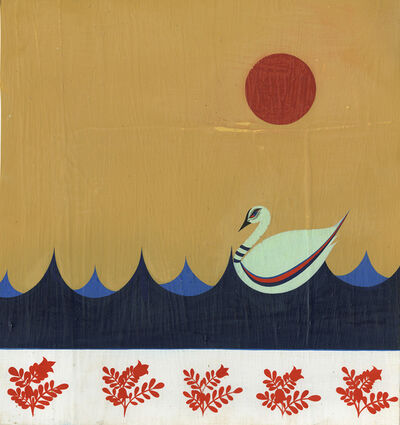 Clare E. Rojas, 'Untitled (Swan Red Moon)', 2009