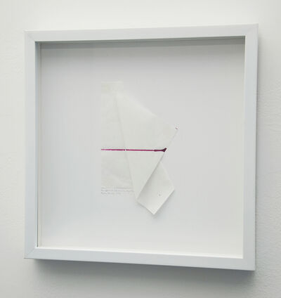 Debra Ramsay, 'The effects of a fold on a line, magenta,', 2013