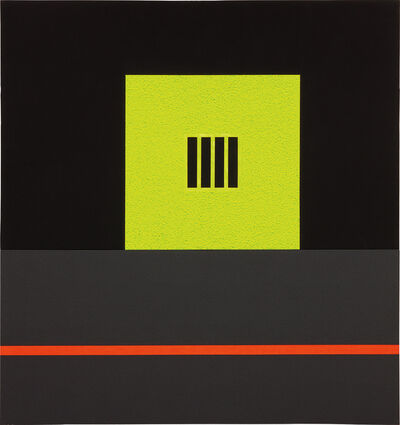 Peter Halley, 'Yellow Prison with Underground Conduit', 1985