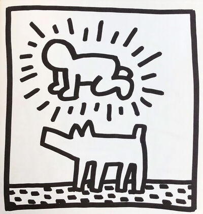 Keith Haring, 'Keith Haring (untitled) Radiant Baby lithograph 1982 (Tony Shafrazi)', 1982