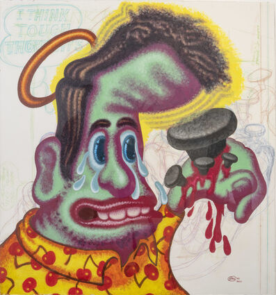 """Peter Saul, '""""I Think Tough Thoughts""""', 1999-2000"""