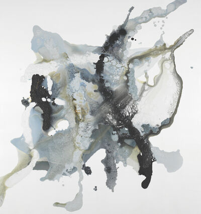 "John Schuyler, '""Energia #26"" Mixed media, abstract painting in black and white', 2020"