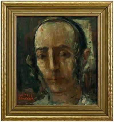 Shmuel Ovadyahu, 'UNTITLED (HASIDIC YOUTH) Israel/Palestine Judaica Painting', 20th Century