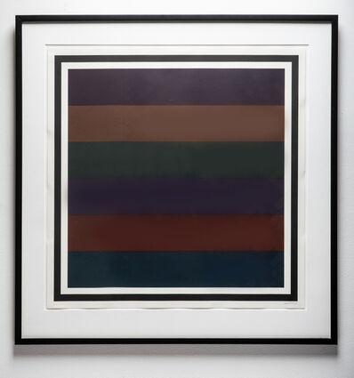Sol LeWitt, 'Horizontal Bands, Colors superimposed, Plate #01', 1998