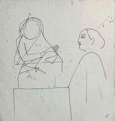 "Badri Narayan, 'Drawing, Ink on paper by Indian Padmashree Artist Badri Narayan ""In Stock""', ca. Circa"
