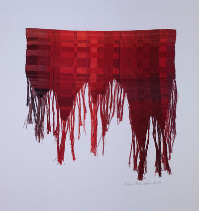 Sharon Alderman, 'Tattered Red', 2019