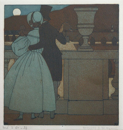Bernard Boutet de Monvel, 'Couple looking at the Moon'
