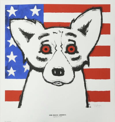 George Rodrigue, 'God Bless America', 2001