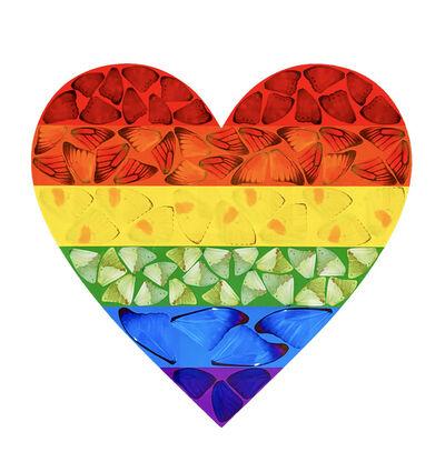 Damien Hirst, 'Rainbow Butterfly Heart ', 2020