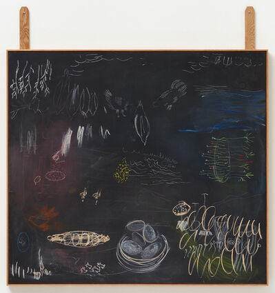 Astrid Svangren, 'Sustainable order/ from life to self/ a garden, a city, the universe or a forest/ the red goddess or the gold colored goddess', 2018