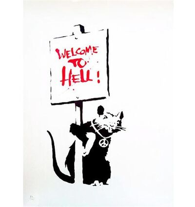 Banksy, 'Welcome to Hell ', 2004