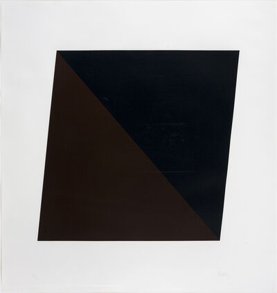 Ellsworth Kelly, 'Black/Brown', 1970