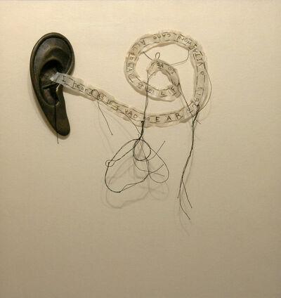 Lesley Dill, 'Ear Poem (I Heard As If I Has No Ear)', 1994