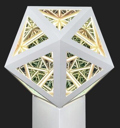 """Anthony James, '24"""" Icosahedron (Solar White)', 2020"""