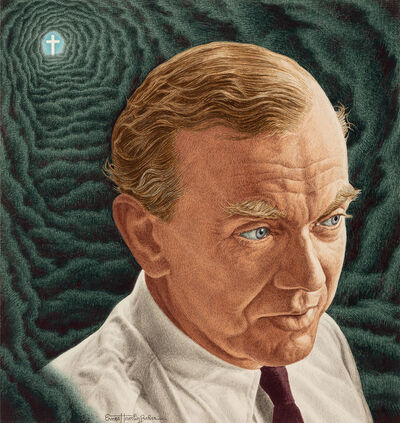 Ernest Hamlin Baker, 'Graham Greene, Time magazine cover Illustration, October 29, 1951', 1951