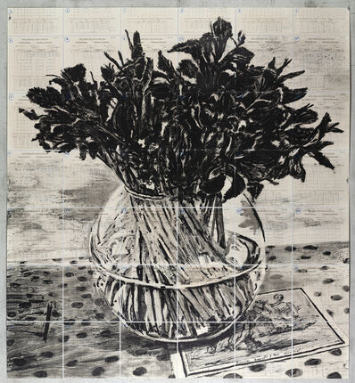 William Kentridge, 'Irises, Royal Observatory, Cape of Good Hope', 2019