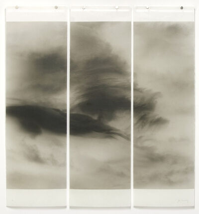 Jeri Eisenberg, 'Songs of the Sky No. 9 (3 Panel Photograph of Sky Japanese Kozo Paper/Encaustic)', 2018