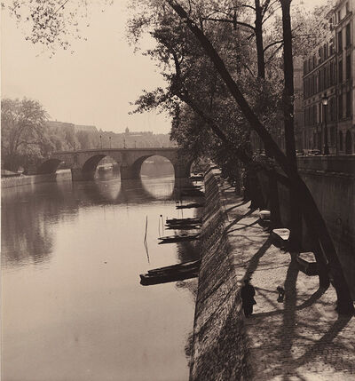 Albert Monier, 'Bank of the Ilse Saint-Louis and the Pont Marie in the Distance, Paris', 1950s/1950s