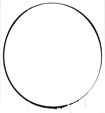 Ian Davenport, 'Ovals: white, black, white', 2002