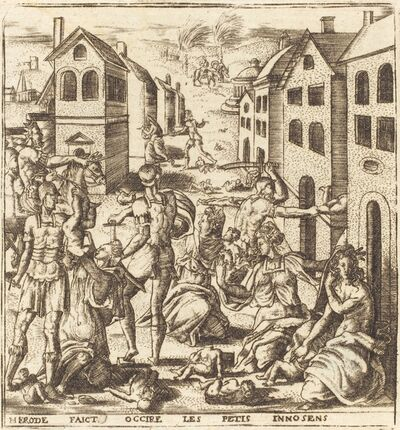 Léonard Gaultier, 'The Massacre of the Innocents', probably c. 1576/1580