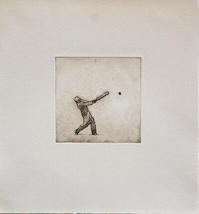David Inshaw, 'Simon Hits a Six at Little Bredy', 2010