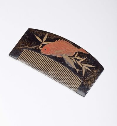 'Haircomb (kushi) with Flora and Fauna Motifs', 1615