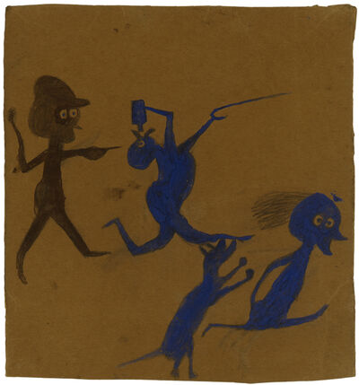 Bill Traylor, 'Exciting Event with Drinker', 1939