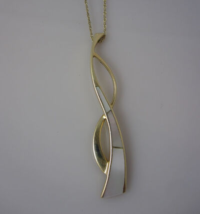 Katherine Marie Spahr, '14k Mother of Pearl Inlay Necklace', 2000-2019