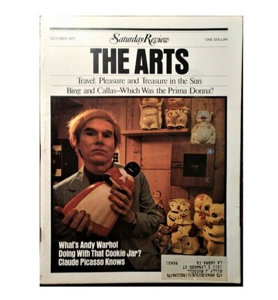 "Andy Warhol, '""What's Andy Warhol Doing With That Cookie Jar ?"", Saturday Review ARTS,  October 7, 1972, Volume LV, Number 41, RARE Edition', 1972"