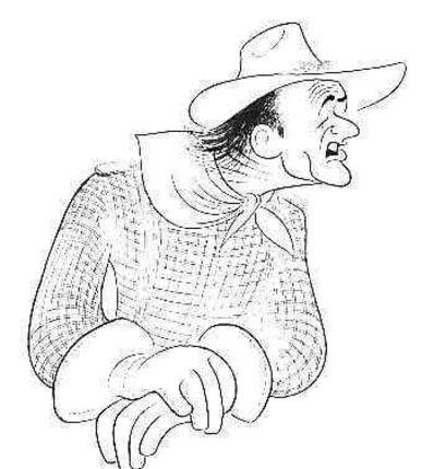 Al Hirschfeld, 'John Wayne', 1982