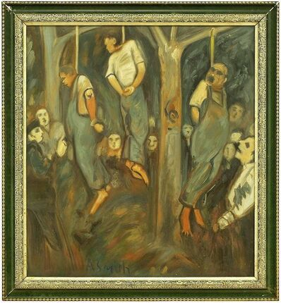 Arthur Smith, 'Rare Lynching Painting WPA artist Social Justice African American Americana', Mid-20th Century