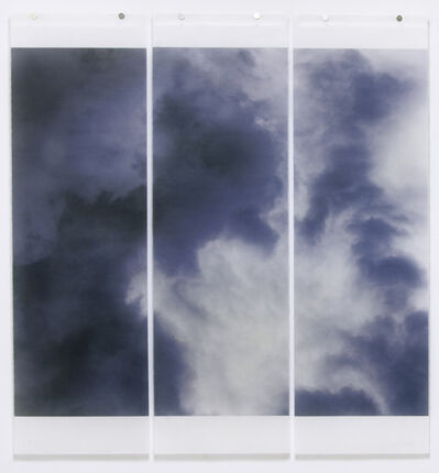 Jeri Eisenberg, 'Songs of the Sky No. 10 (3 Panel Photograph of Sky Japanese Kozo Paper/Encaustic)', 2018