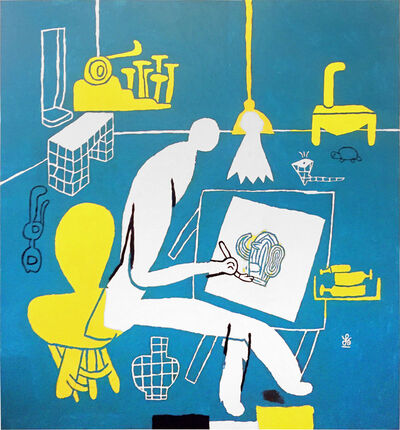 Soeren Behncke, 'Hans Scherfig (Blue Version)', 2017