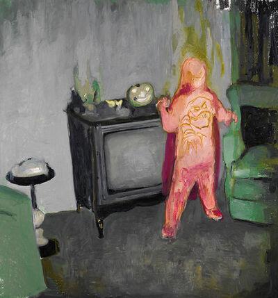 Mercedes Helnwein, 'Pink Kid and TV', 2015