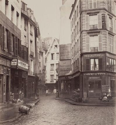 Charles Marville, 'Rue Pirouette, vue prise de la rue Rambuteau, 1er arrondissement, Paris', ca. 1865