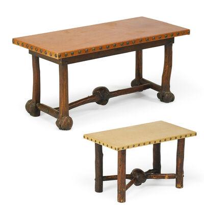 Thomas Molesworth, 'Rare console table/desk and bench, Cody, WY', 1932-33