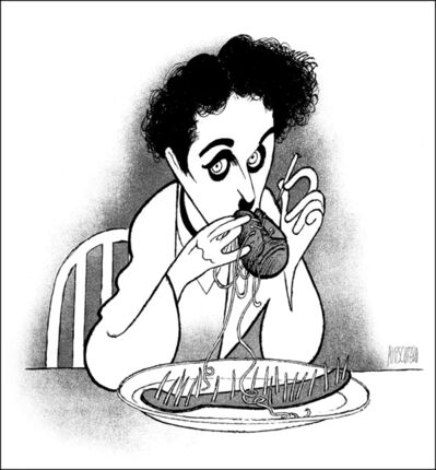 "Al Hirschfeld, '""Charlie Chaplin: The Gold Rush""', 1991"