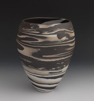 Lorraine Shemesh, 'Brown, Tan, & White Swirl Neriage Vessel', 2017