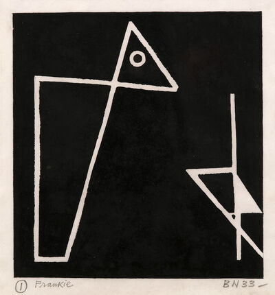 Ben Nicholson, 'Foxy & Frankie (C. 2, see P.Q. II.2)', 1933
