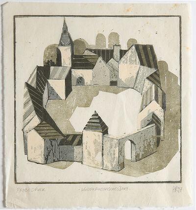 Hans Christian Rüngeler, 'Niederrheinisches Dorf', 1997
