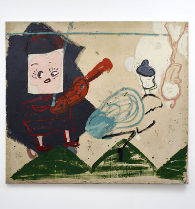 Rose Wylie, 'Titian Tableau (Wolly Hat)', 1991-2016