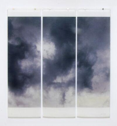 Jeri Eisenberg, 'Songs of the Sky No. 7 (3 Panel Photograph of Sky Japanese Kozo Paper/Encaustic)', 2018