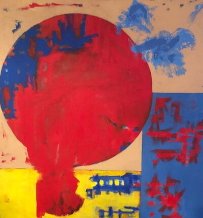 Carl A Alexander, 'Red Circle, Yellow and Blue Rectangle', ca. 1950-70s