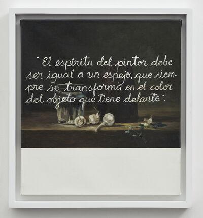 Sandra Gamarra, 'Escritura sobre naturaleza muerta IV', 2019