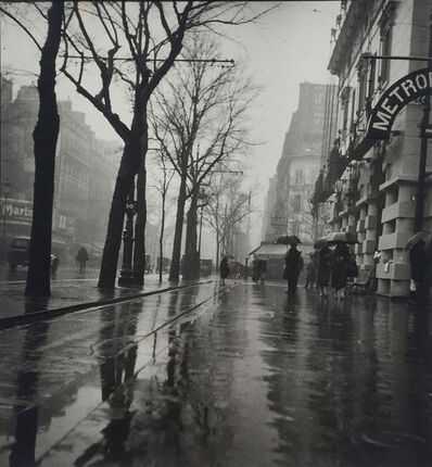 Geza Vandor, 'Rainy Paris Street', ca. 1930