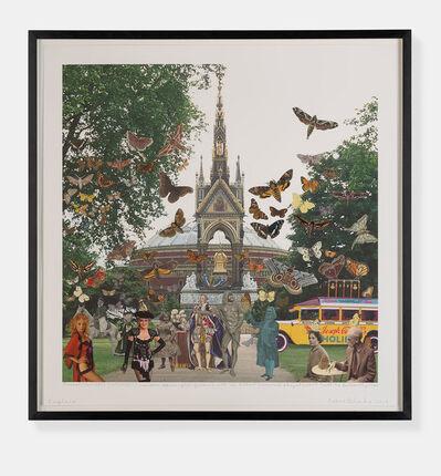 Peter Blake, 'Joseph Cornell's Holiday - London. Kensington Gardens, with the Albert Memorial & Royal Albert Hall. 'The Butterfly Man'. ', 2018