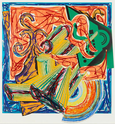 Frank Stella, 'The Butcher Came and Slew the Ox, Pl.8 from Illustrations after El Lissitzky's Had Gadya', 1984